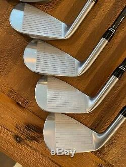 MINT! Srixon Z 785 RH 4-PW Iron Set KBS $-Taper 125 S+ BLACK ONYX FINISH