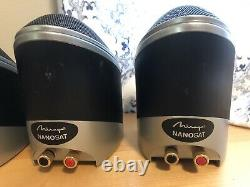 MIRAGE NANOSAT Speakers Five (5) speaker set black and silver finish