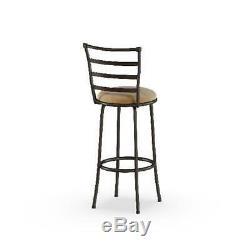 Mainstays Adjustable-Height Swivel Barstool, Hammered Bronze Finish, Set of 3