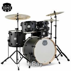 Mapex Storm 5 Piece Fusion Full Size Drum Set Deep Black Finish ST5045FBIZ New