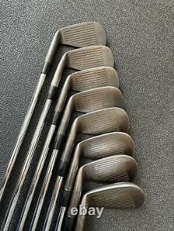 Mizuno MP 33 Forged Iron set Rare, Custom Order in Black Finish. 3-PW