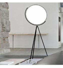 Modern Tripod Table and Floor Lamp Set, Black Metal Finish, Living Room Lamp New