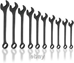 Neiko 03129A Jumbo Combination Wrench Set, 10 Piece Black Oxide Finish SAE