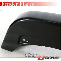 New Black Smooth Pocket Style Fender Flares For 1994-2001 Dodge Ram 1500