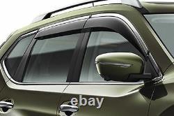 Nissan X-Trail (2014) Wind Deflector Set Chrome Finisher (H08004CC0A)