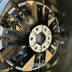 OEM Finish BLACK CHEVROLET GMC HIGH COUNTRY 6X139M RIMS TIRES WHEELS 22 inch 4