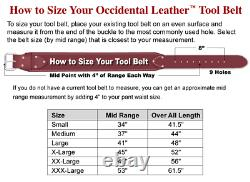 Occidental Leather 9525 LG LARGE The Finisher Tool Belt Set Made in USA