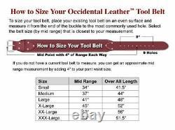 Occidental Leather 9525 M The Finisher Tool Belt Set Medium