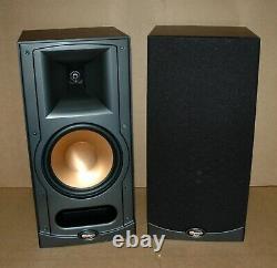 Pair Klipsch RB-35 Two Way Black Finish Bookshelf Speakers Set RB35