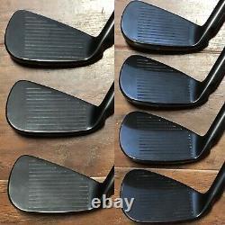 Ping s55 Iron Set (4-PW) NICE RH Xtreme Dark Finish Stiff Flex