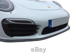 Porsche 991 Turbo S Gen 1 Full Grille Set (ACC) Black Finish (2013 to 2015)