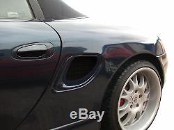 Porsche Boxster 986 Side Vent Set Black finish (1996 to 2004)