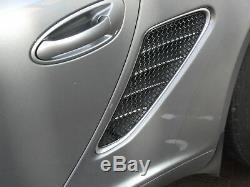 Porsche Boxster 987.1 Side Vent Grille Set Black finish (2005 2012)