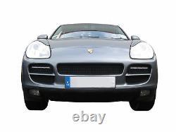 Porsche Cayenne Front Grill Set Black finish (2003 to 2008)
