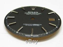 Rolex Datejust Genuine Black Matt Finish Dial + hands Set 1601 FREE SHIPPING