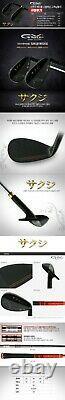 SAKUJI Golf Wedge Set 52/56/60 SM black brushed finish
