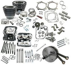 S&s Cycle 124 Hot Set Up Engine Kit, 1999-06 Twin Cam A, Black Finish, 900-0564
