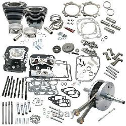 S&s Cycle 124 Hot Set Up Engine Kit, 2006-17 Twin Cam A, Black Finish, 900-0568