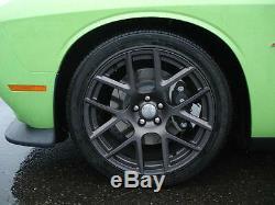 Sema Challenger Charger 300 Lightweight Carbon Black Finish Wheels 20 X 9 Set 4