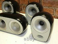 Set Of 5 Tannoy Arena Gloss Black Finish Home Cinema Surround Sound Loudspeakers