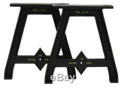 Set of (2) 16 cast aluminum cast iron table/bench legs bases durable Finish