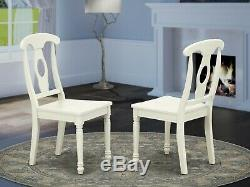 Set of 2 dinette kitchen dining chairs with wood seat in black & cherry finish