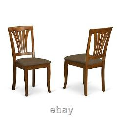 Set of 6 Avon dinette kitchen dining chairs with faux leather seat in black