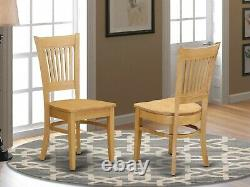 Set of 6 Vancouver dinette kitchen dining chairs with padded seat black finish