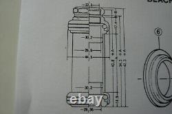Shimano 1975 # K-901 Dura Ace Black finish B. C 25.4 x 24 thread steel head set