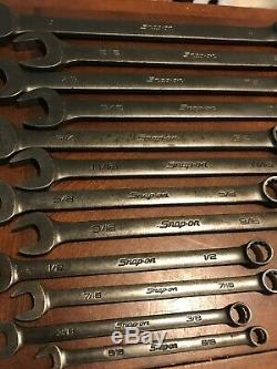 Snap On Tools SAE Flank Drive Wrench Set GOEX711B 5/16-1 Industrial Finish Black