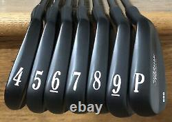 Titleist 680 Forged Iron Set (4-PW) MINT Xtreme Dark Finish BlK KBS 130 X