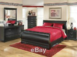 Traditional Style Black Finish NEW 5 piece Bedroom Set with Queen Sleigh Bed IA0B