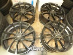 Used set of KMC Spin 19x8.5 5-115 & 19X9.5 5-115 matte black finish