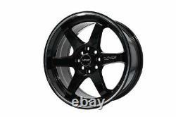VMS Racing 15X7 4X100 4x108 Offset 30 Gloss Black Milling Finish Set of 2 Wheels