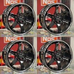 VMS Racing 15X7 5x100 Offset 30 Gloss Black Milling Finish Set of 4 Wheels