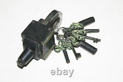 Vintage Brass Tricky Lock Puzzle Padlock with Antique Finish with 6 Keys 3X2 Set