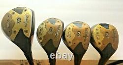 Vintage Walter Hagen Signature Golf Woods Set 1,3,4,5, Beautiful Finish