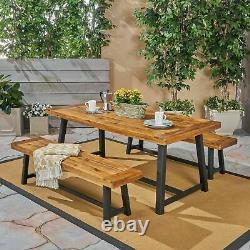 Weir Outdoor Acacia Wood Picnic Set