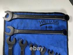 Williams SuperCombo Black Industrial Finish 12 Point SAE 9PC Wrench Set WithPouch
